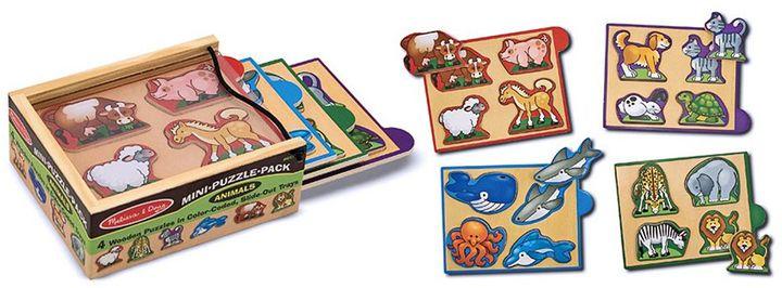 Melissa & Doug 4-pk. Animals Mini-Puzzle-Pack