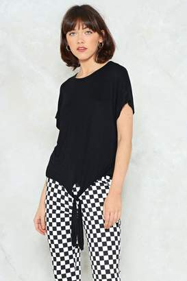 Nasty Gal Tie to Keep Up Relaxed Tee
