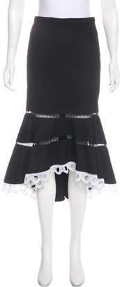 Alexis Woven Midi Skirt