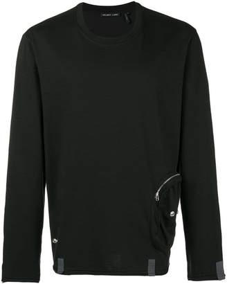 Helmut Lang side-pocket fitted sweatshirt