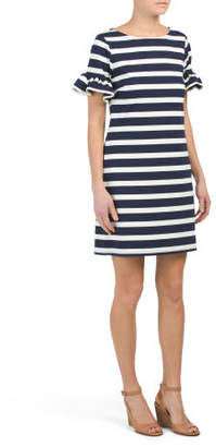 Ruffle Short Sleeve Dress