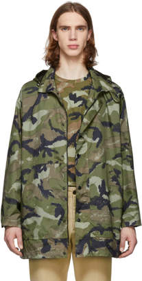 Valentino Green Camo Army Coat
