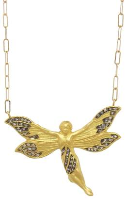 Cathy Waterman Diamond Fairy Pendant Necklace