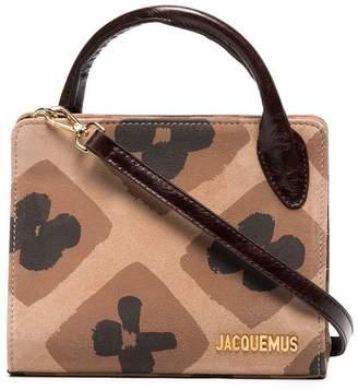 Jacquemus Brown Le Sac Bahia mini suede tote bag