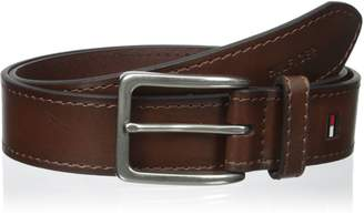 Tommy Hilfiger Men's 35mm Vegatable Leather Belt