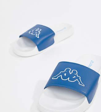 Kappa logo slide in blue