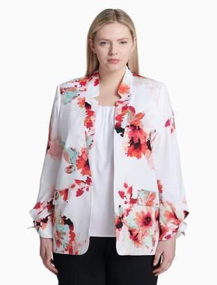 Calvin Klein plus size floral tie wrist jacket