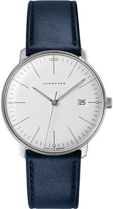Junghans 041/4464.00 Max Bill stainless steel and leather quartz watch