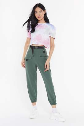 Nasty Gal Womens Driver'S Seat Belted Jogger Trousers - Green - 6, Green