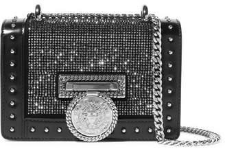 Balmain Baby Box Embellished Leather Shoulder Bag - Black