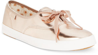 Keds Women's Breeze Metallic Lace-Up Sneakers $75 thestylecure.com