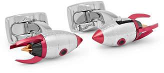 Deakin & Francis Rocket Enamelled Silver-Tone Cufflinks