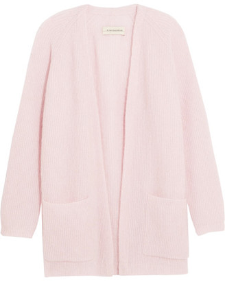 By Malene Birger - Belinta Brushed Ribbed-knit Cardigan - Pastel pink $450 thestylecure.com