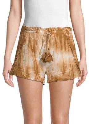 Moon River Waist Tie Cotton Shorts