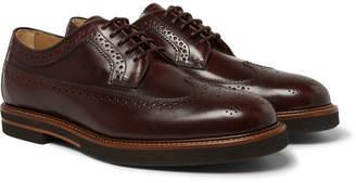 Tod's Leather Wingtip Brogues - Men - Brown