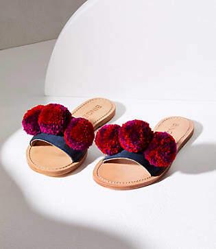Lou & Grey Binge Knitting Pom Slip On Sandals