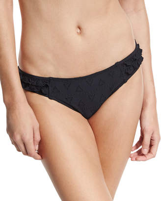 Seafolly Lola Rae Hipster Swim Bottom, Black $82 thestylecure.com