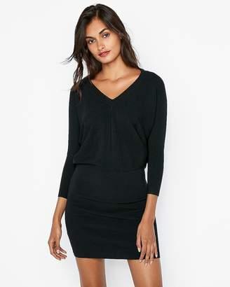 Express V-Neck Dolman Sweater Dress