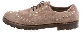 Marni Suede Studded Oxfords