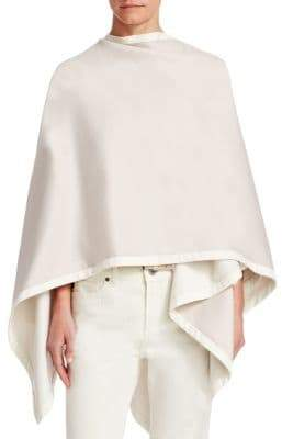 Loro Piana Short Madison Cashmere Shawl with Suede Trim