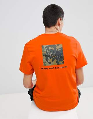 The North Face Red Box T-Shirt in Orange