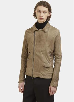 Giorgio Brato Perfecto Leather Biker Jacket in Brown