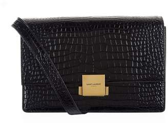 Saint Laurent Medium Croc Embossed Bellechasse Satchel