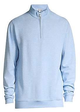 Peter Millar Men's Crown Comfort Interlock Quarter-Zip Sweater