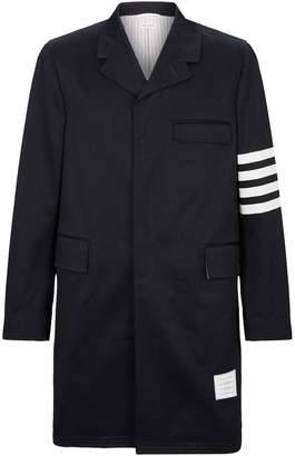 Thom Browne Four-Bar Stripe Chesterfield Overcoat