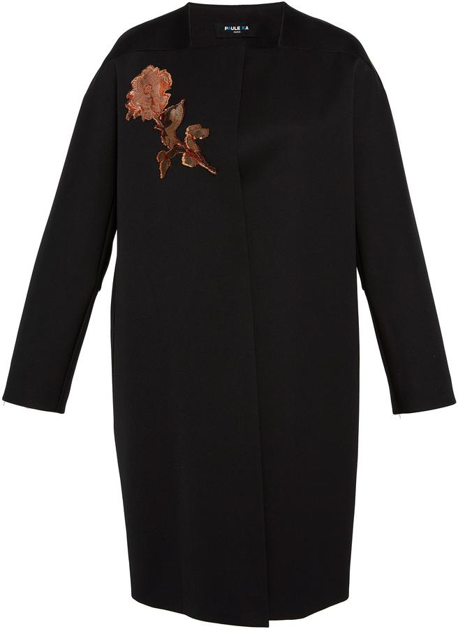 Paule KaPaule Ka Duchess Satin Embroidered Coat