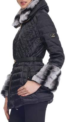 Gorski Apres-Ski Quilted Jacket with Fur Trim