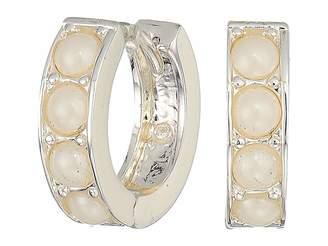 Lauren Ralph Lauren Glass Pearl Huggie Earrings