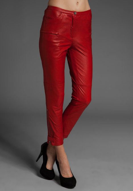 By Malene Birger Topa Cropped Leather Pant