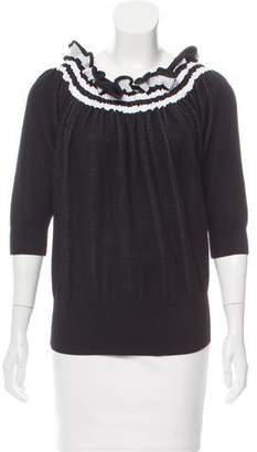 3.1 Phillip Lim Wool Short Sleeve Top