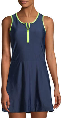 Sam Edelman Zip-Front Mini Tennis Dress