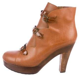 See by Chloe Leather Platform Boots