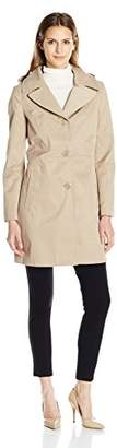 """Anne Klein Women's 34"""" Mid Length a-Line Single Breasted Raincoat"""