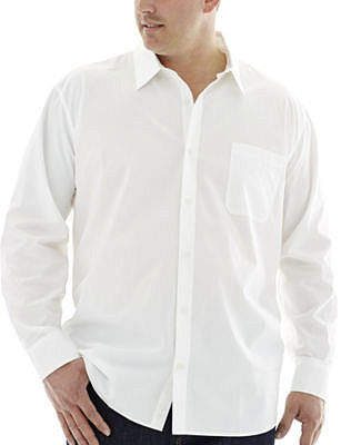 Claiborne Long-Sleeve Solid Woven Shirt - Big & Tall