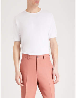 John Smedley Belden knitted cotton t-shirt