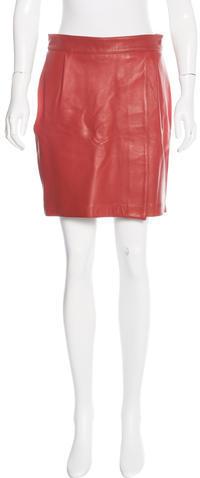 ADAM By Adam LippesAdam Lippes Leather Mini Skirt