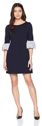 Eliza J Women's Petite Solid Shift Dress with Bell Sleeves (Regular & Petite)