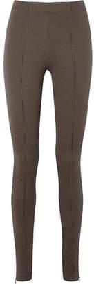 Totême Rodi Houndstooth Stretch-jersey Skinny Pants - Camel