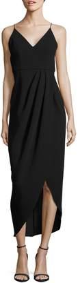 Xscape Evenings Spaghetti-Strap Side-Wrap Dress
