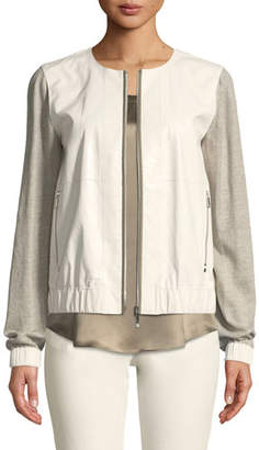 Lafayette 148 New York Aviana Laminated Leather Jacket