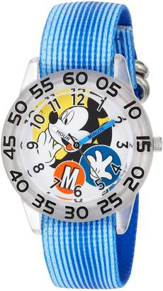 Disney Boy's 'Mickey Mouse' Quartz Plastic and Nylon Casual Watch, Color: (Model: WDS000113)