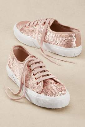 Soft Surroundings Superga Iridescent Sequin Sneakers