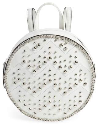 YOKI BAGS Studded Faux Leather Round Backpack