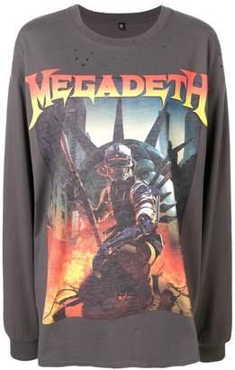 R 13 Megadeth loose T-shirt