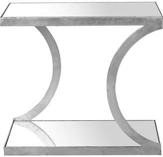 One Kings Lane Tate Side Table - Silver/Mirror