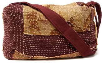 By Walid Topstiched Tapestry Canvas Holdall - Womens - Red Multi